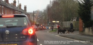 The threat of queues of traffic coming into Winchester loom larger unless the Barton Farm Forum can steer Cala away from this route