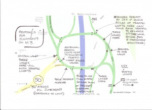 This sketch shows proposed changes- work due to start July 2013